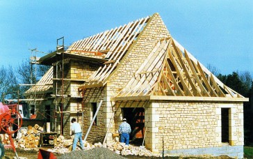 New build home in Dordogne - example of building process