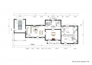 New build house in Dordogne - Floor plan - ground floor