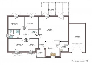 New build home in Dordogne - Floor plan